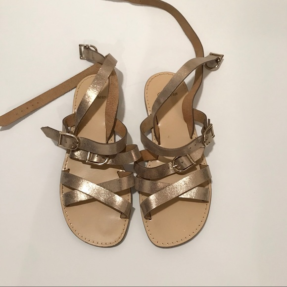 J. Crew Shoes - Jcrew aria gold strapped sandals